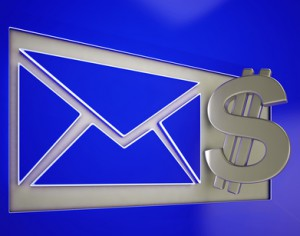 EnveEnvelope with a dollar bill sign.